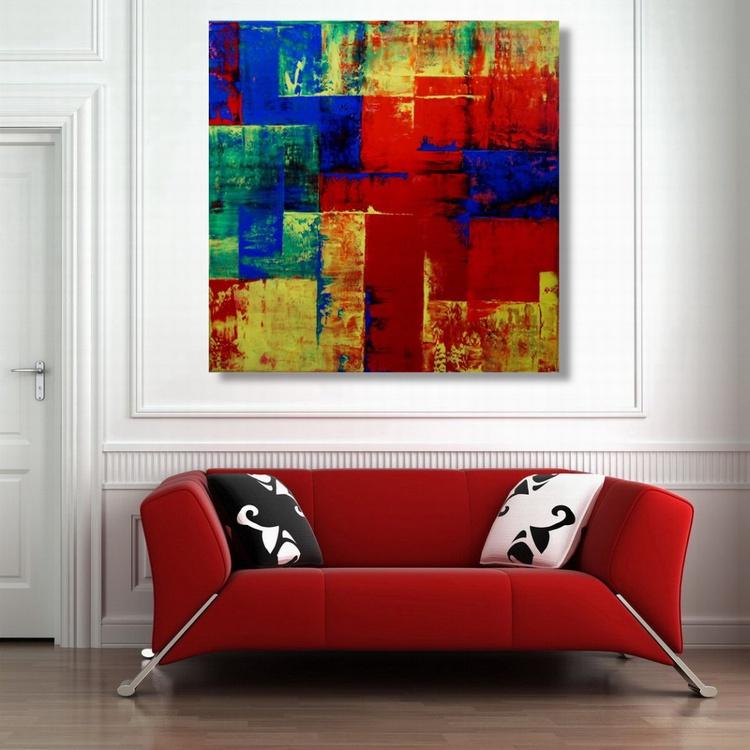 Squaredance Of Colors (80 x 80 cm) - Image 0