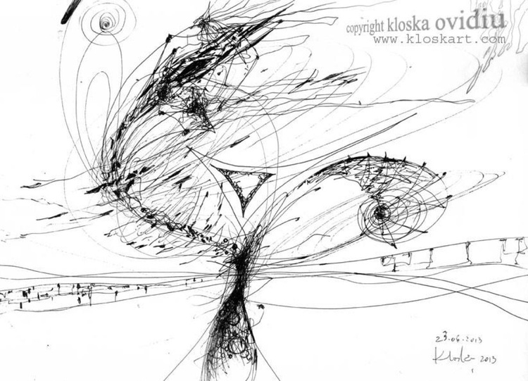 """FROM """"KAFKIAN ETERNITY WITH FLOWERS AT 7 PM SERIES """" - COMPOSITION SIGNED 23 JUNE 2013 - Image 0"""