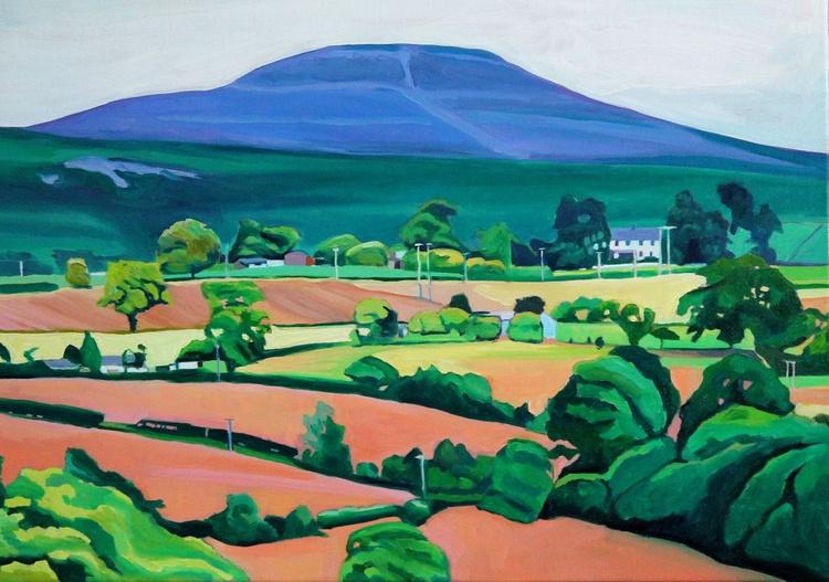 Farm Under Velvet Mountain - Image 0