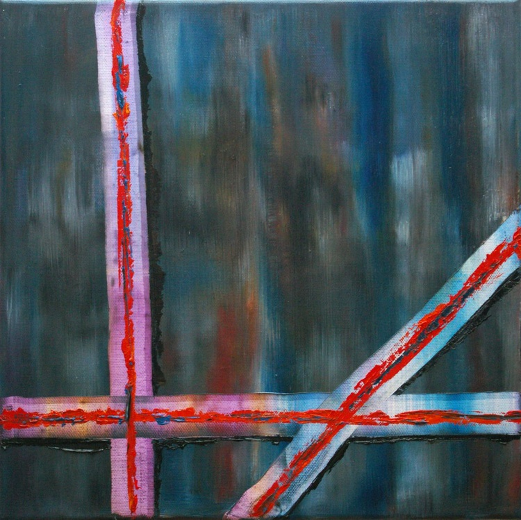 No Stars Just Stripes - Abstract oil painting - Image 0