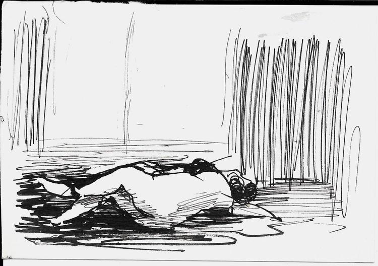 Sleeping Nude, 14x10 cm - Image 0