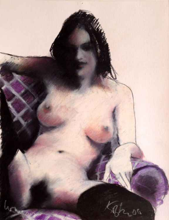 Woman (Purple Chair)