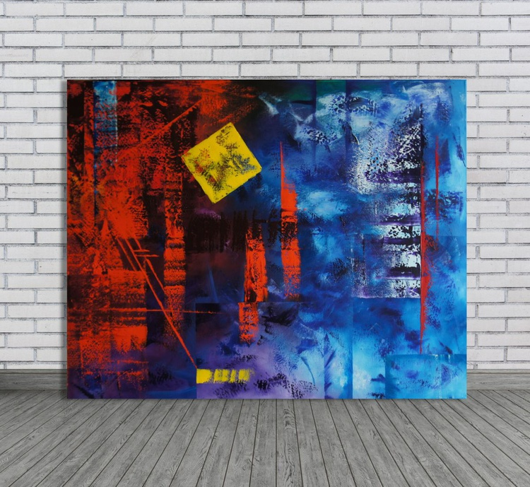 Living in a Box (80x100cm) - Image 0
