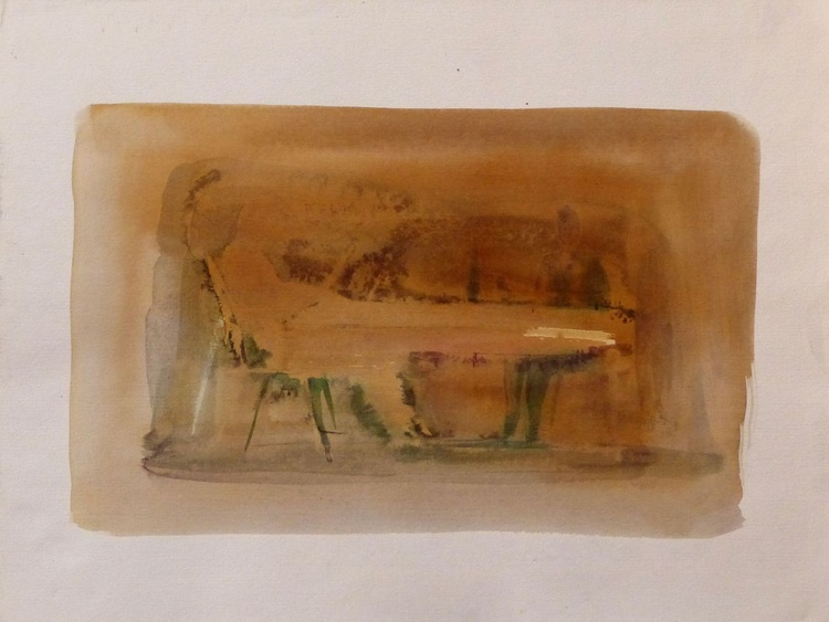 At the table, 24x32 cm - Image 0