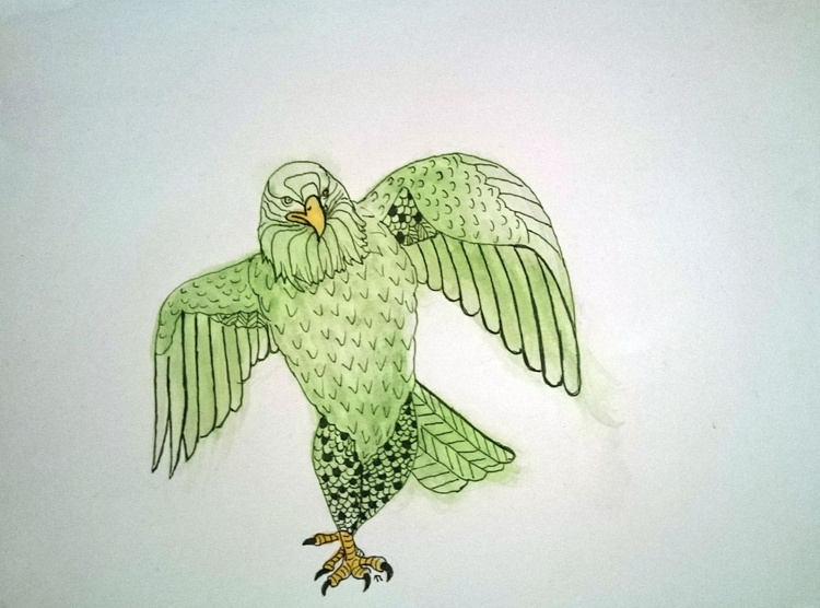 Strutting Eagle in Green - Image 0
