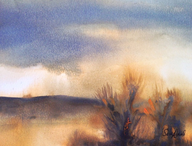 """""""On the Heath"""" Purbeck collection in watercolour . - Image 0"""