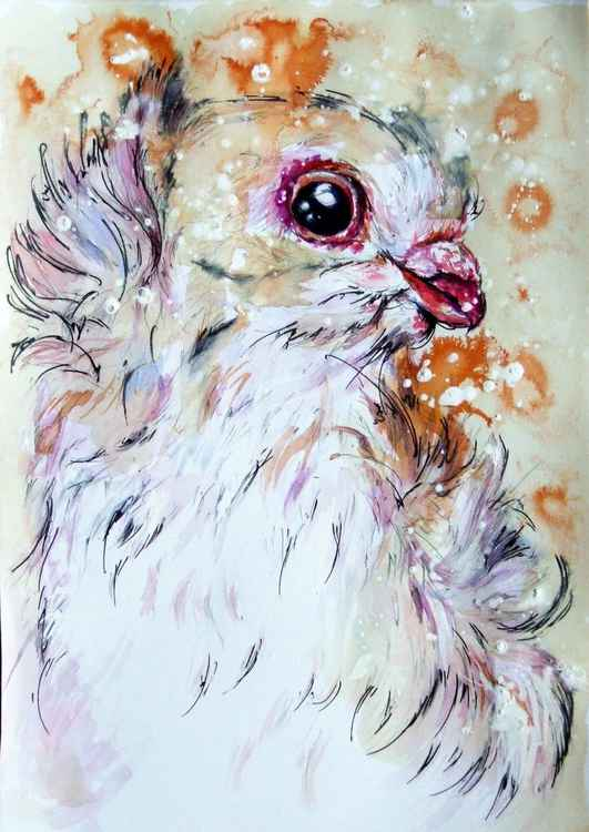 Portrait of a Pigeon in Watercolour