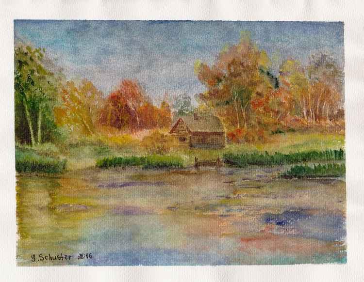 Autumn landscape. study
