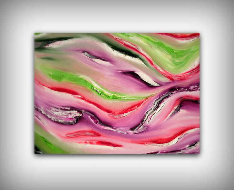 Magician - 70x50 cm, Original abstract painting, oil on canvas - Image 0