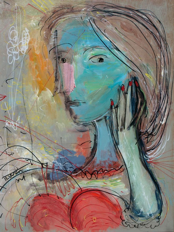 Head au poem (II) ~ inspired by Picasso - Image 0