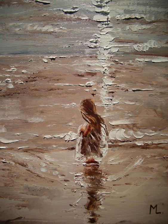 """"""" GRAIN OF SAND ... """" original painting palette knife GIFT MODERN URBAN ART OFFICE ART DECOR HOME DECOR GIFT IDEA - Image 0"""