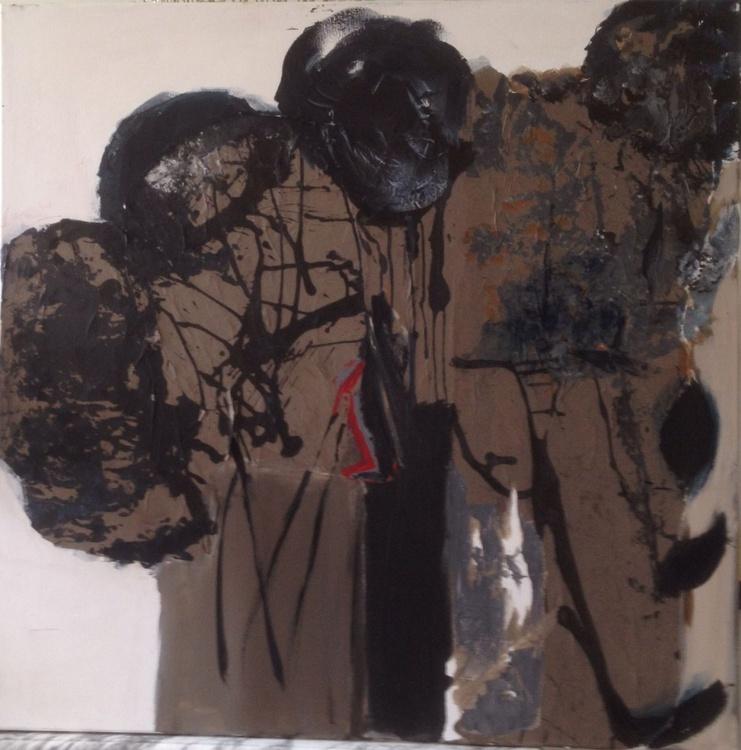 Abstract acrylic & Mixed Media 100x100 - Image 0