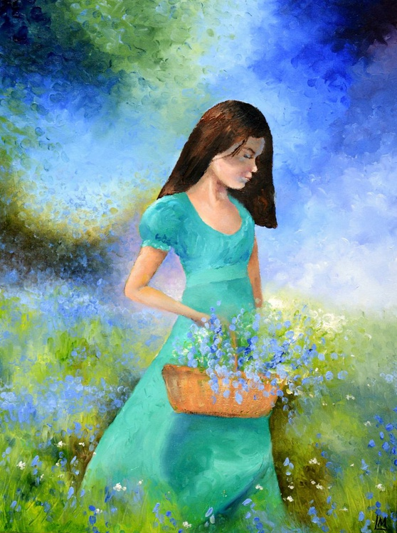 Finger Painting - Collecting Bluebells - Image 0