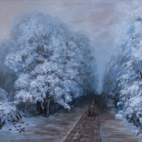 """Winter Park inspired by Ivan Aivazovsky, 2016"" by Mila Moroko"