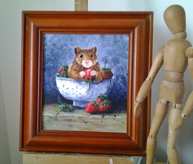 """""""CAUGHT RED-HANDED"""", still-life with a twist - Image 0"""