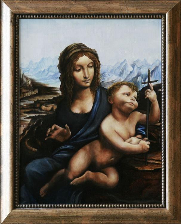 """Madonna of the yarnwinder"" after Leonardo Da Vinci - Image 0"