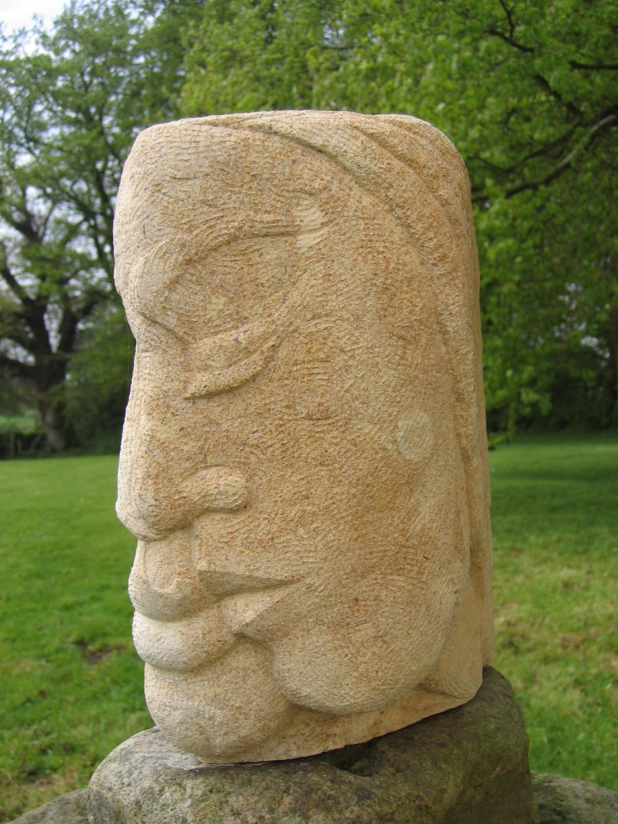 The kiss small stone carving one of a kind