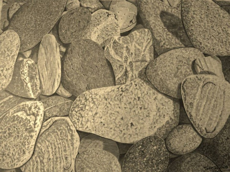 Pebbles On The Beach - Image 0