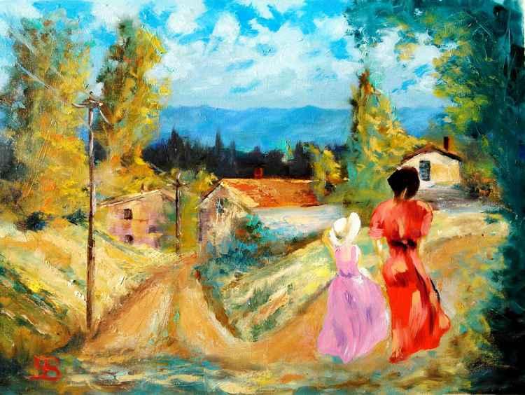 Tuscan village -