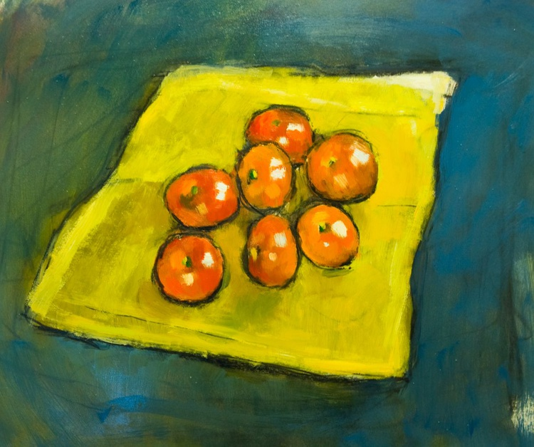 Oranges on a Yellow Cloth - Image 0