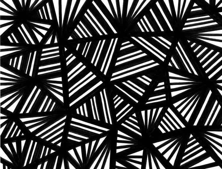 Nefarious Abstract Original Drawing -