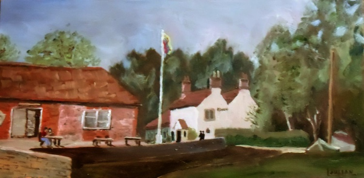"""The Maltsters at Ranworth, Norfolk. An original Oil Painting Size: 8"""" x 16"""" Lovely Gift! - Image 0"""