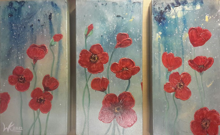 Poppies in the rain - Image 0