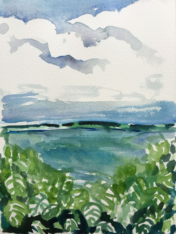 Water color: Sunny Tropical Afternoon - Image 0