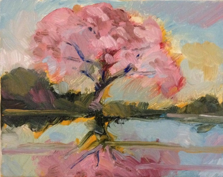 The Tree of Pink Blossoms - Image 0