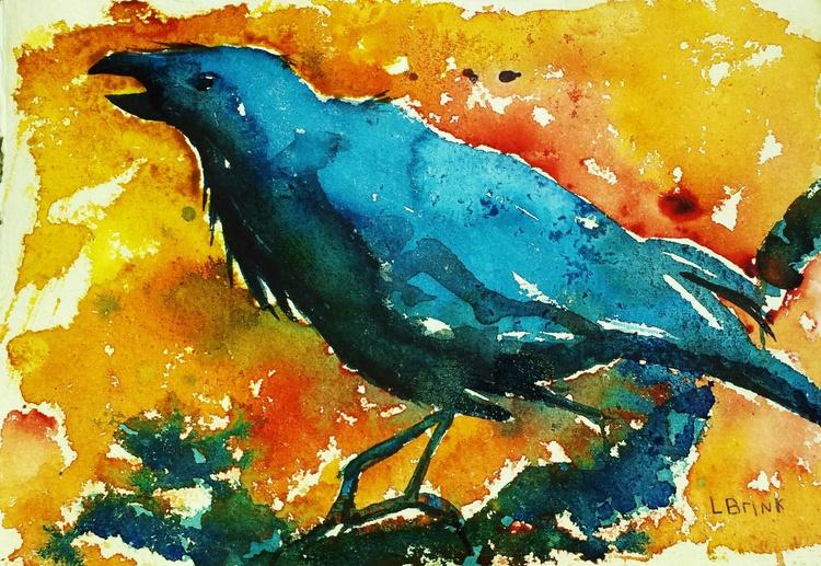 watercolor crow - Image 0