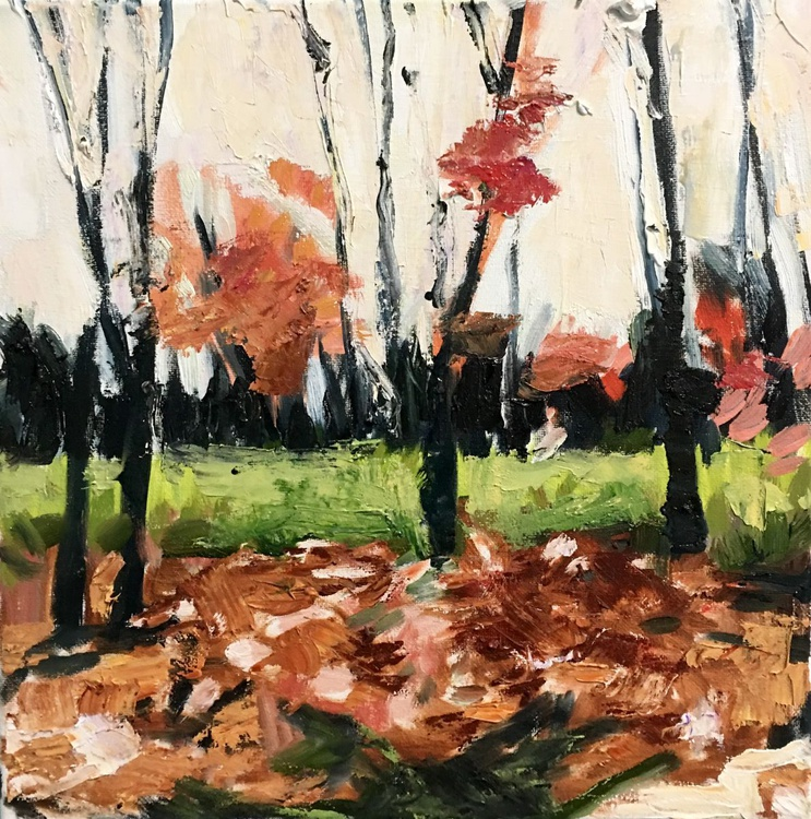 Last Days of Autumn, small oil on canvas - Image 0