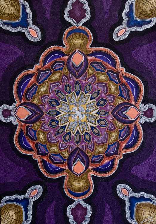 Purple Mandala -