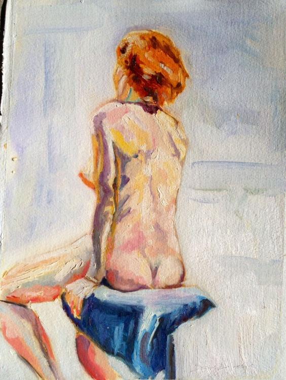 Nude study-Red Head - Image 0