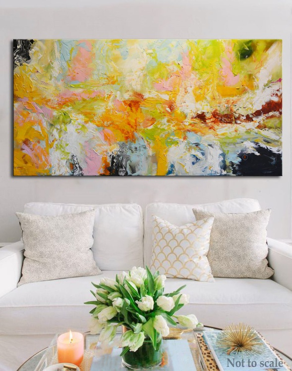 Waterfall of Blossom  - abstract floral painting - Image 0