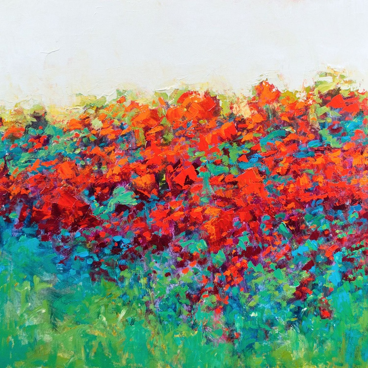 Red Poppies, 24x24 inches - Image 0