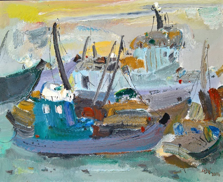 Boats in the port - Image 0