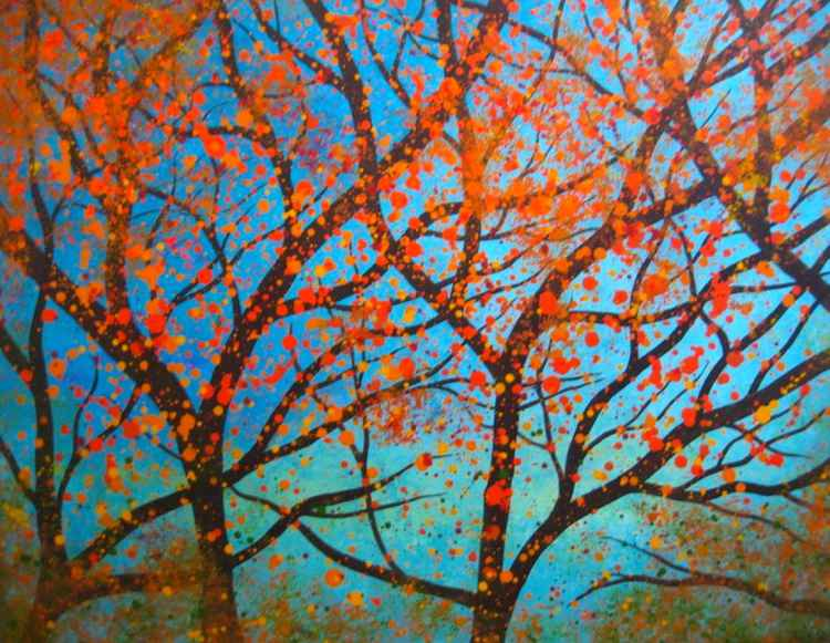 Autumnal Orange Tree -