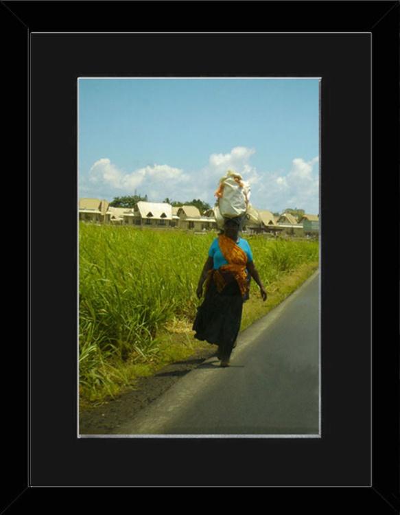 Lady Balancing - Mauritius - Framed - Image 0