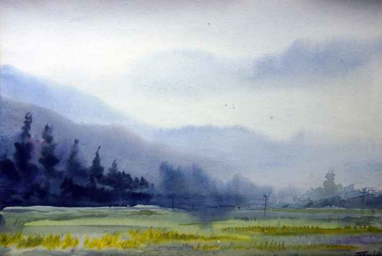 Beauty of Mystery Himalaya - Watercolor on Paper -