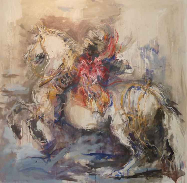 Equestrian  Portrait After Velazquez -