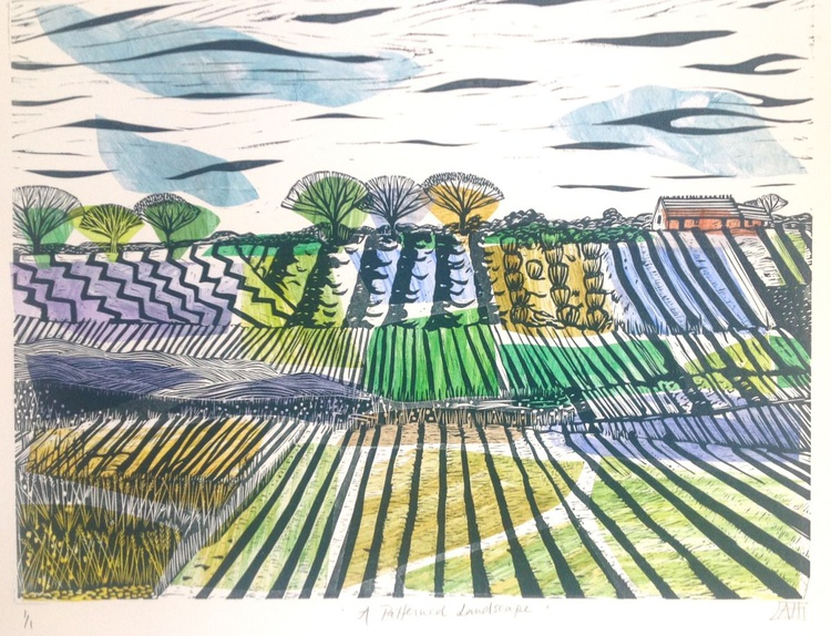 A Patterned Landscape (Light Green) - Image 0