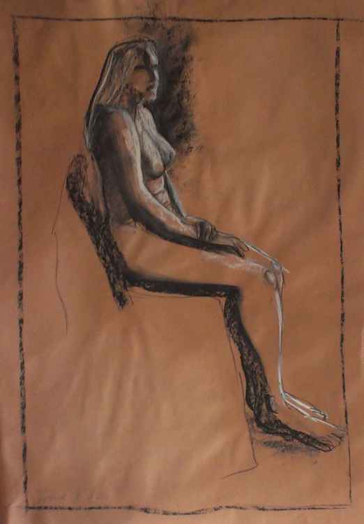 Seated nude (Steph) -