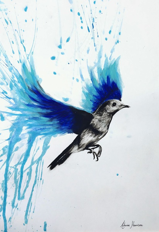 Flying With Blue Bird - Image 0