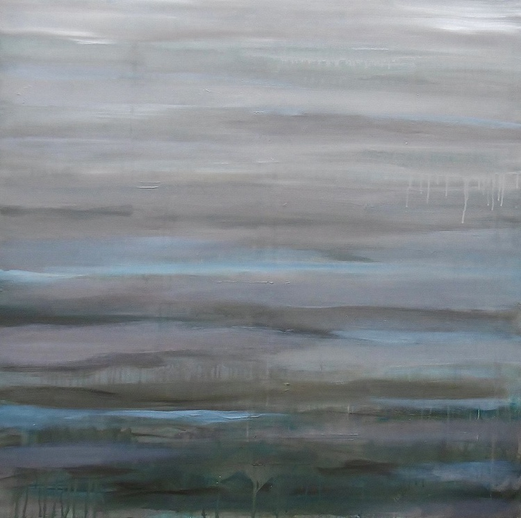 'Estuary, Low Tide' Large Abstract - Image 0