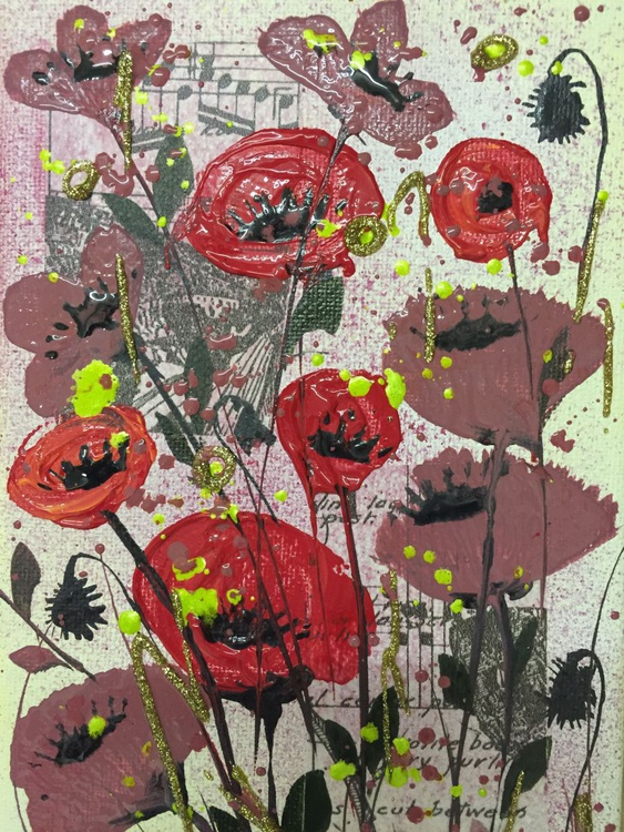 Mini red poppies - Image 0