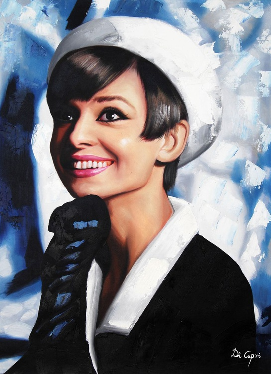 "Audrey Hepburn Portrait ""How to Steal a Million"" - Image 0"