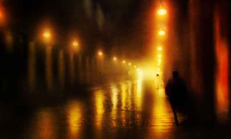 Back to the Past. Alley of Lights (Ltd Edition of only 3 Fine Art Giclee prints from an original photograph)