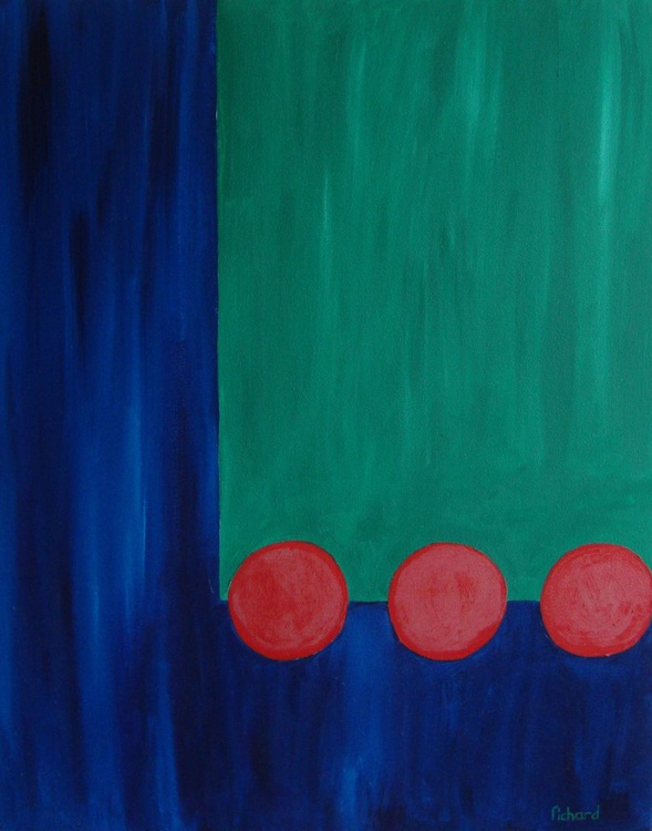 Study in red blue and green - Image 0