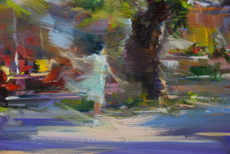 "Abstract Landscape Painting ""The Fresh Evening"" - Image 0"