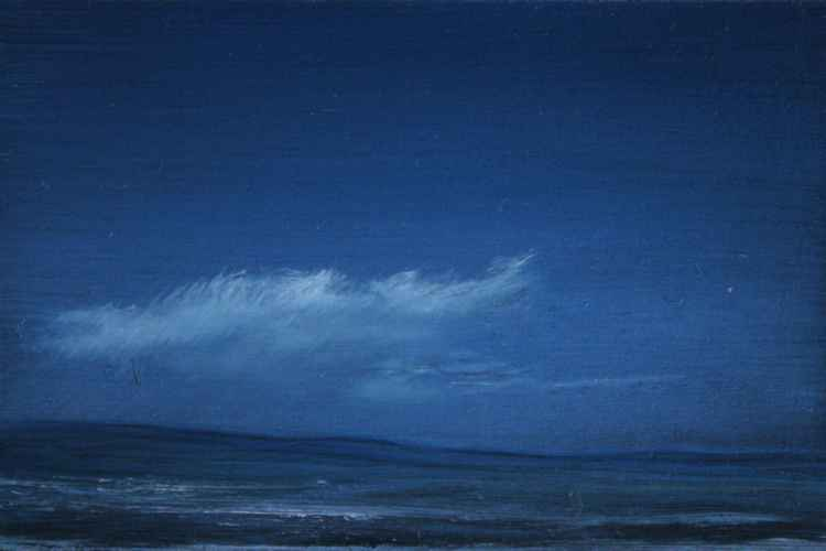 Blue 2 - Miniature Oil Painting
